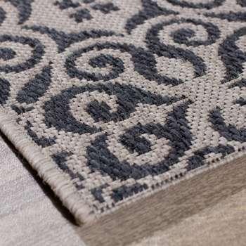 Teppich Modern Ethno sand/ anthracite 120x170cm