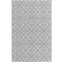 Teppich Modern Etno wool/ spa blue 120x170cm