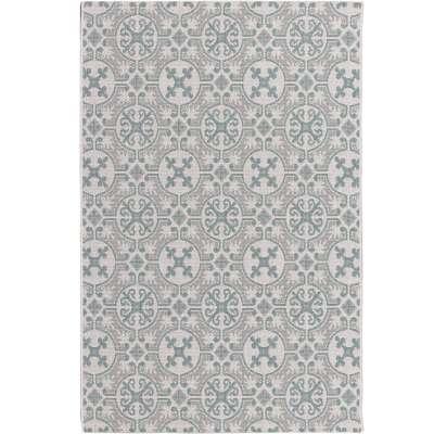 Modern Etno Wool/Spa Blue Area Rug 120x170cm Rugs and Runners - Dekoria.co.uk