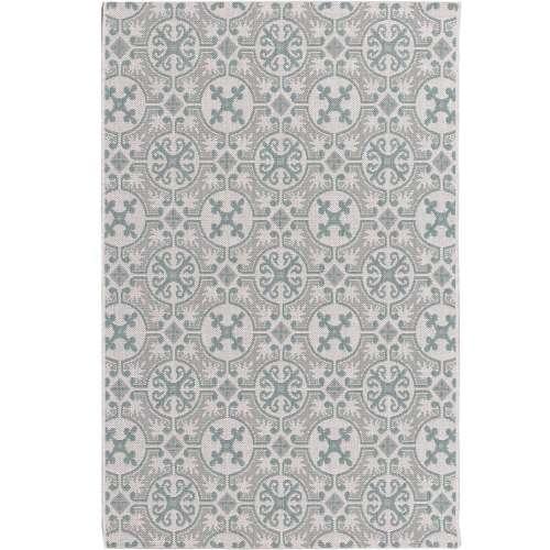 Modern Etno Wool/Spa Blue Area Rug 120x170cm