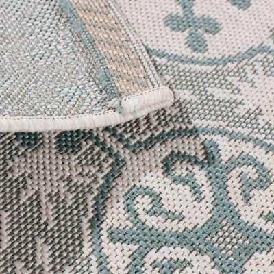 Dywan Modern Ethno wool/spa blue 120x170cm