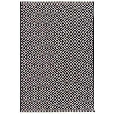 Vloerkleed Modern Geometric black/wool 120x170cm