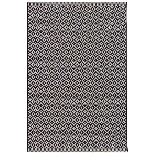Modern Geometric black/wool 120x170cm rug