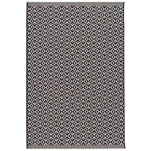 Teppich Modern Geometric black/ wool 120x170cm