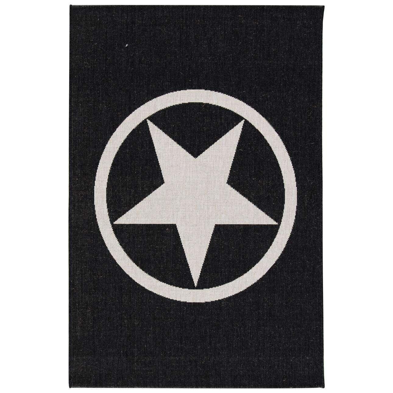 Koberec Modern Star black/wool 120x170cm