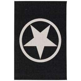 Teppich Modern Star black/ wool 120x170cm