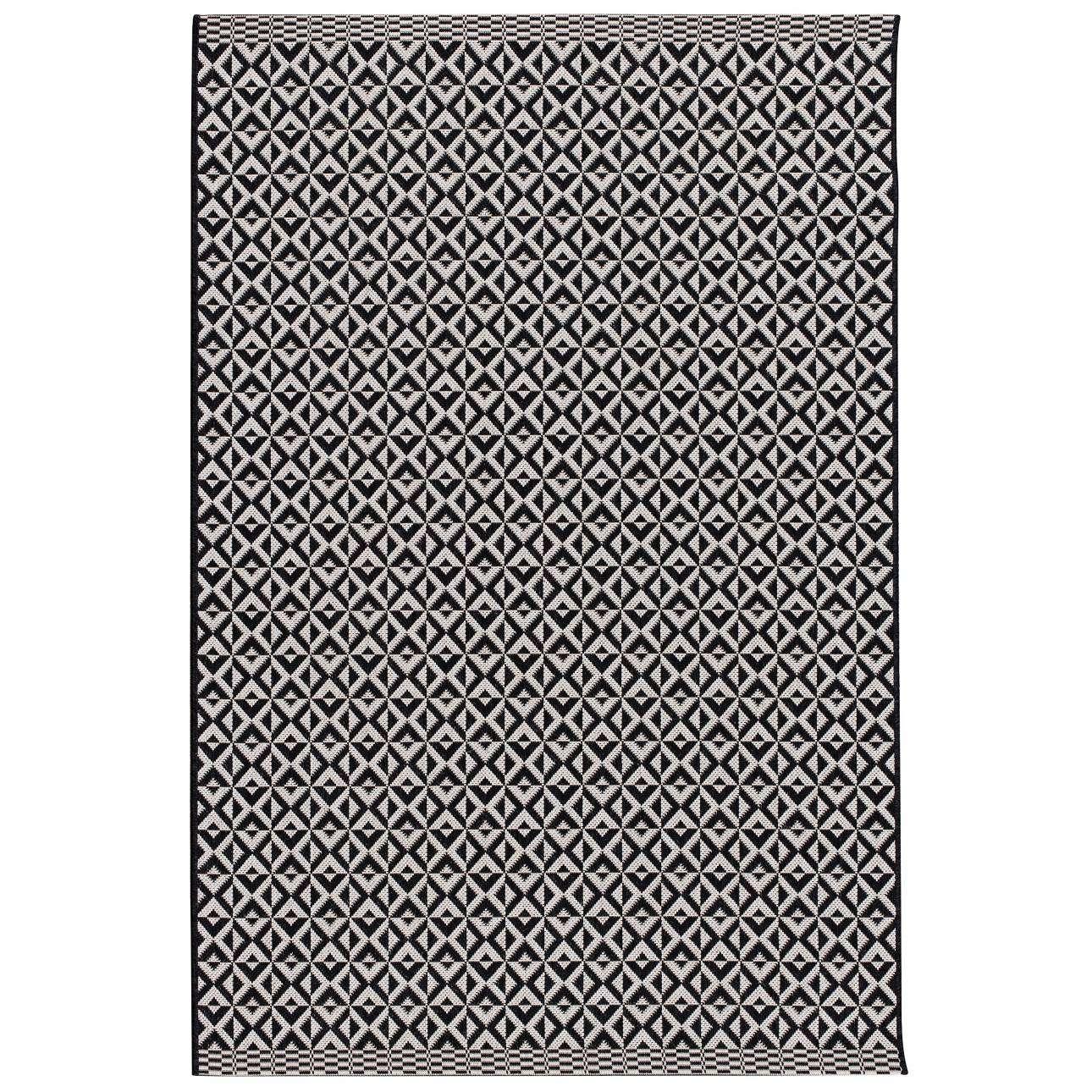 Teppich Modern Geometric black/ wool 160x230cm