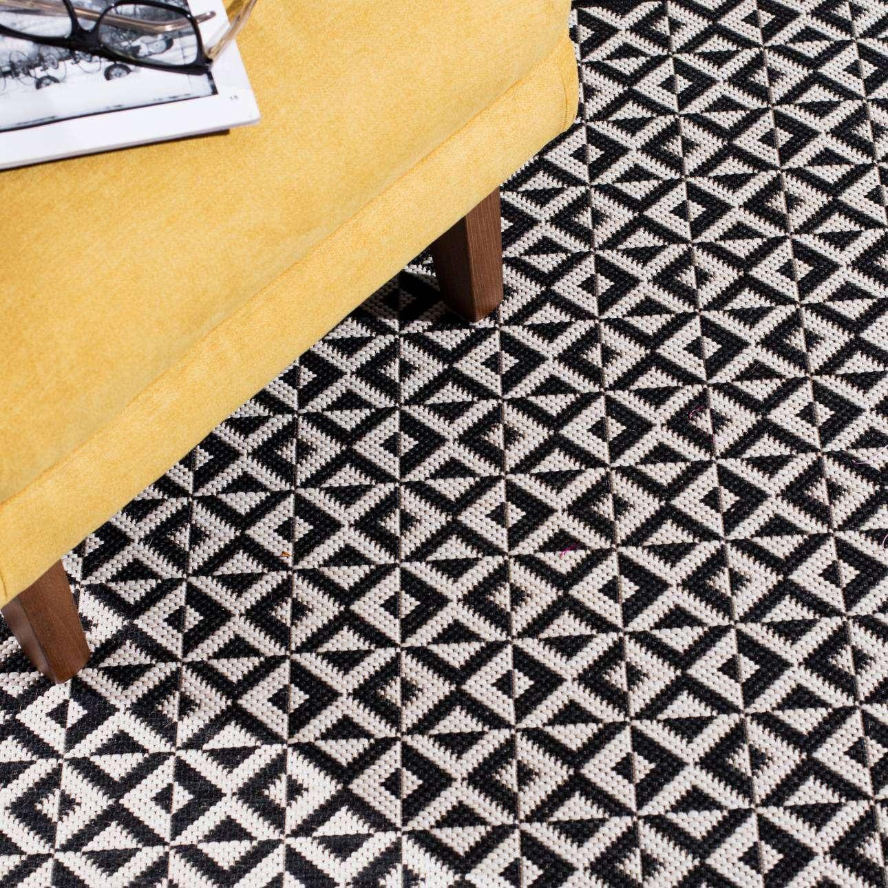 Dywan Modern Geometric black/wool 160x230cm 160x230cm