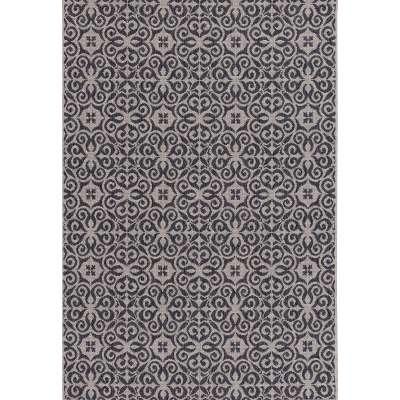 Teppich Modern Ethno sand/ anthracite 200x290cm