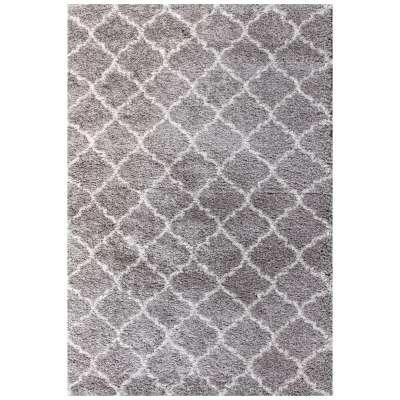 Royal Morocco Dove Grey/Cream Area Rug 67x130cm Rugs and Runners - Dekoria.co.uk
