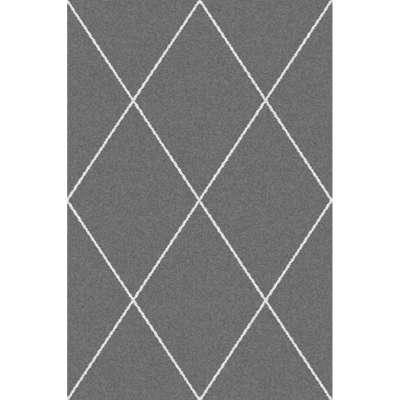 Dywan Royal Rhombs dark grey/cream 160x230cm