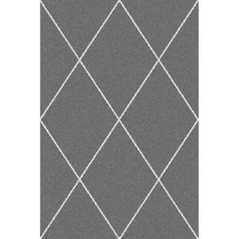Dywan Royal Rhombs dark grey/cream 160x230cm 160x230cm