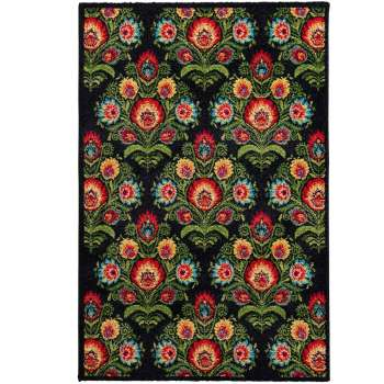 Teppich Modern Folk anthracite 67x130cm