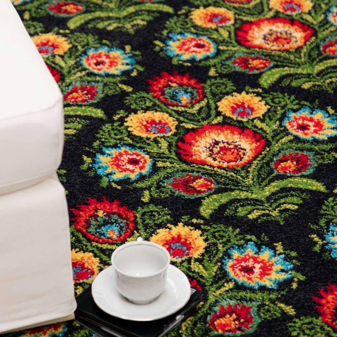 Dywan Modern Folk anrtacite 67x130cm 65x130cm