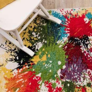 Teppich Modern Splash cream 120x170cm