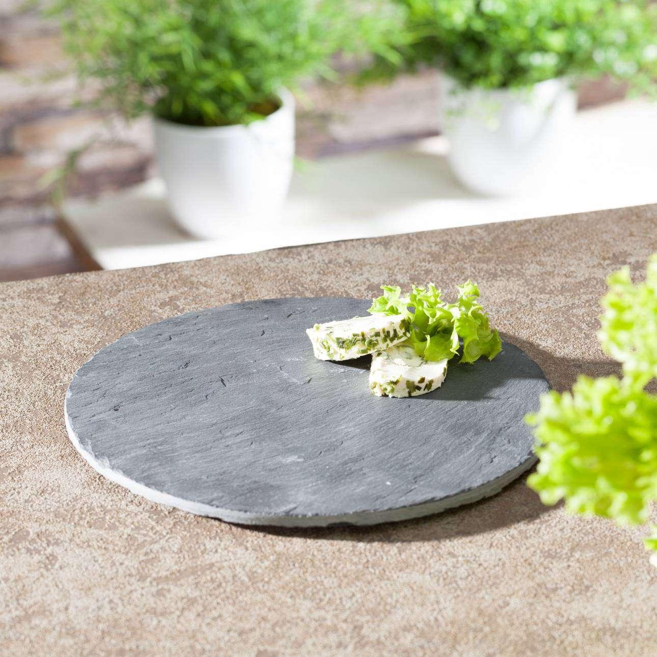 Półmisek okrągły łupek naturalny 21cm 21cm