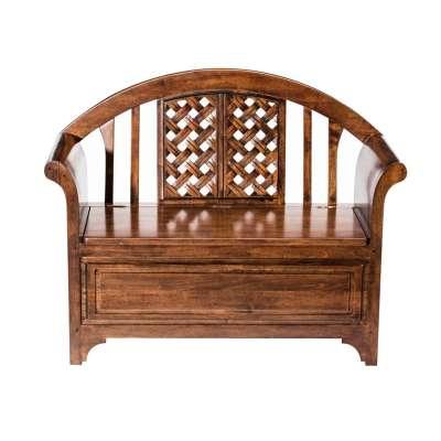 Klepbank Montri 115x50x91cm Koloniale meubels - Dekoria.nl
