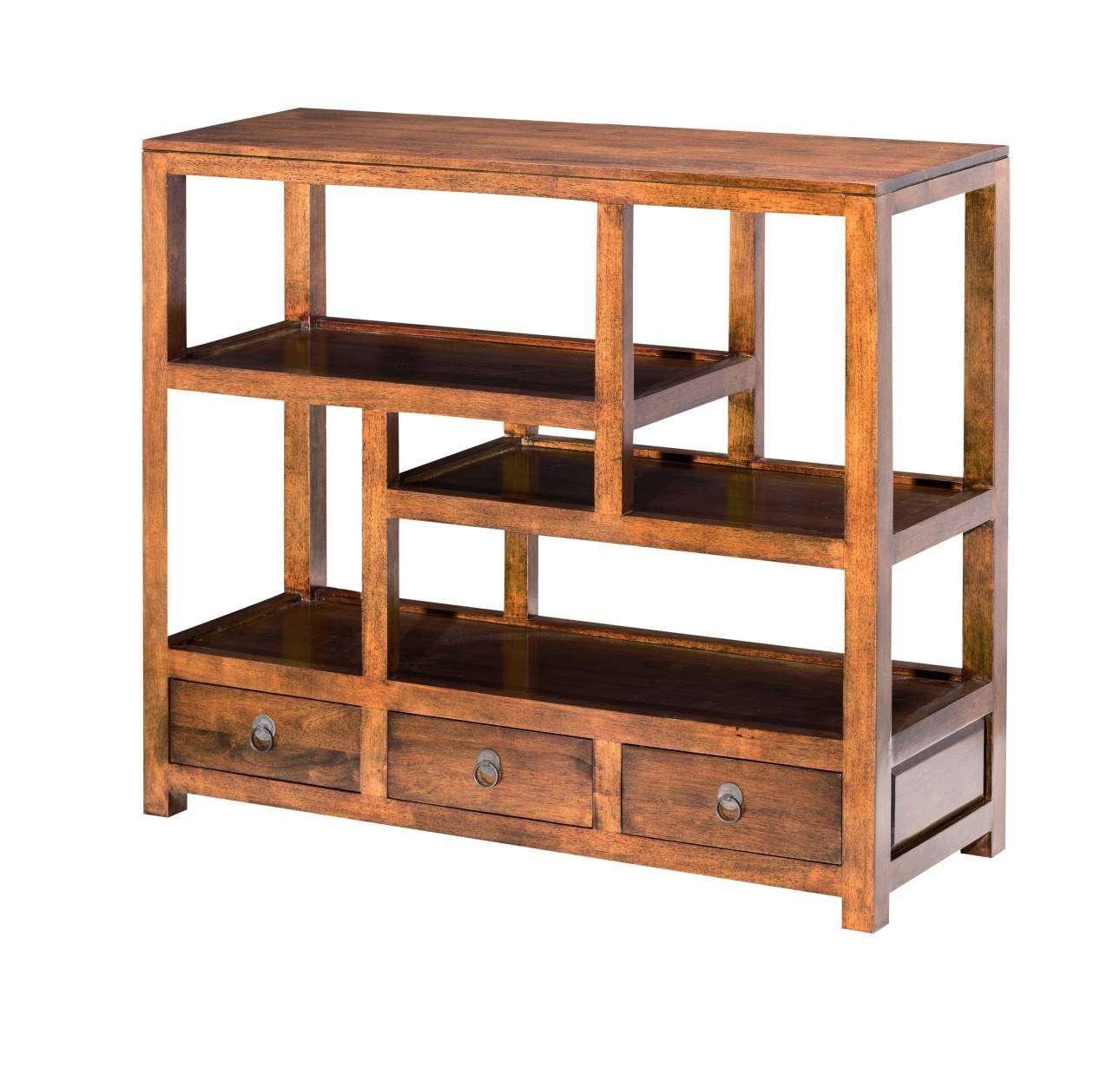 Dekoria Regał z szufladami Goya 110x38x96cm