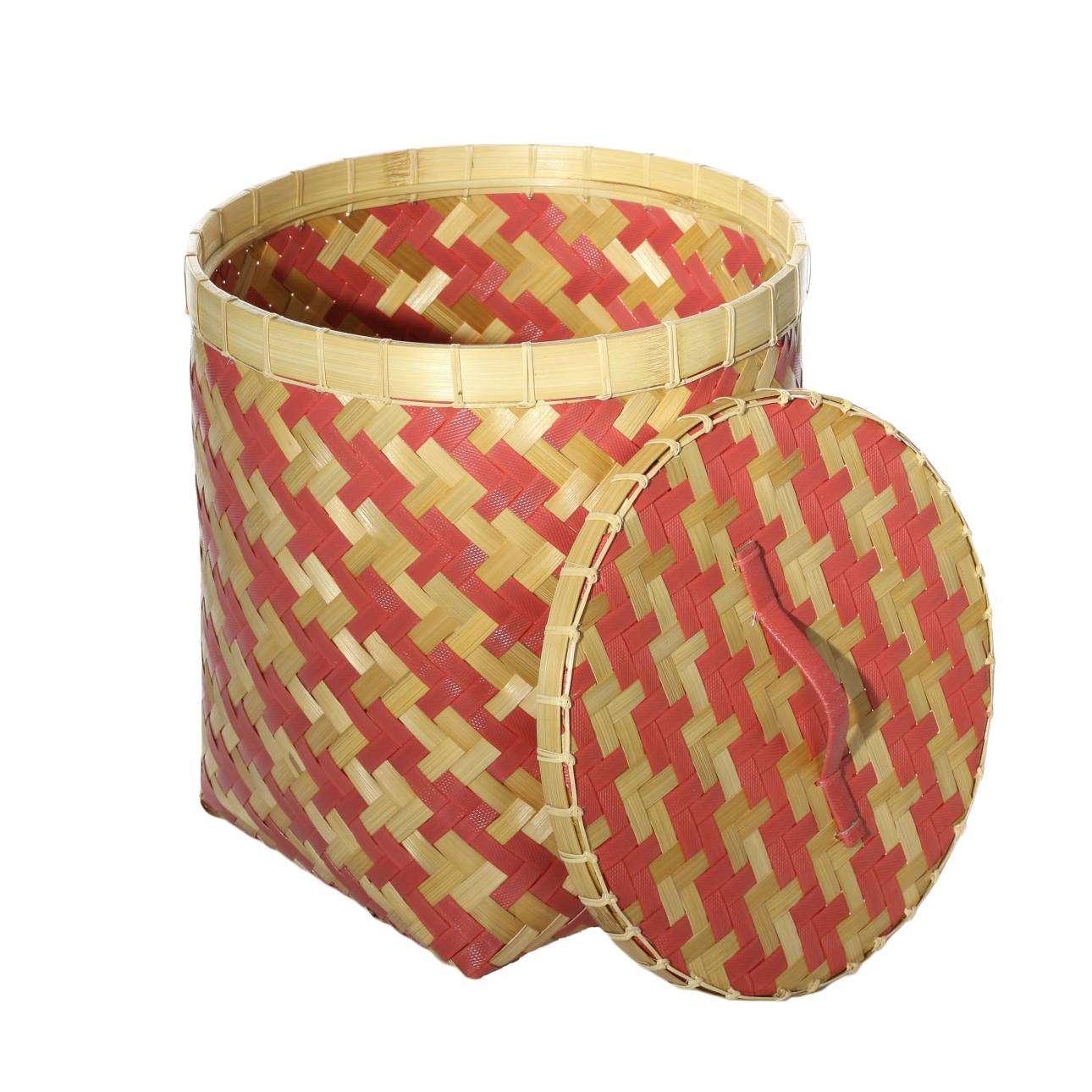 Kosz z pokrywą Stripes 37,5x41cm 38x38x41cm