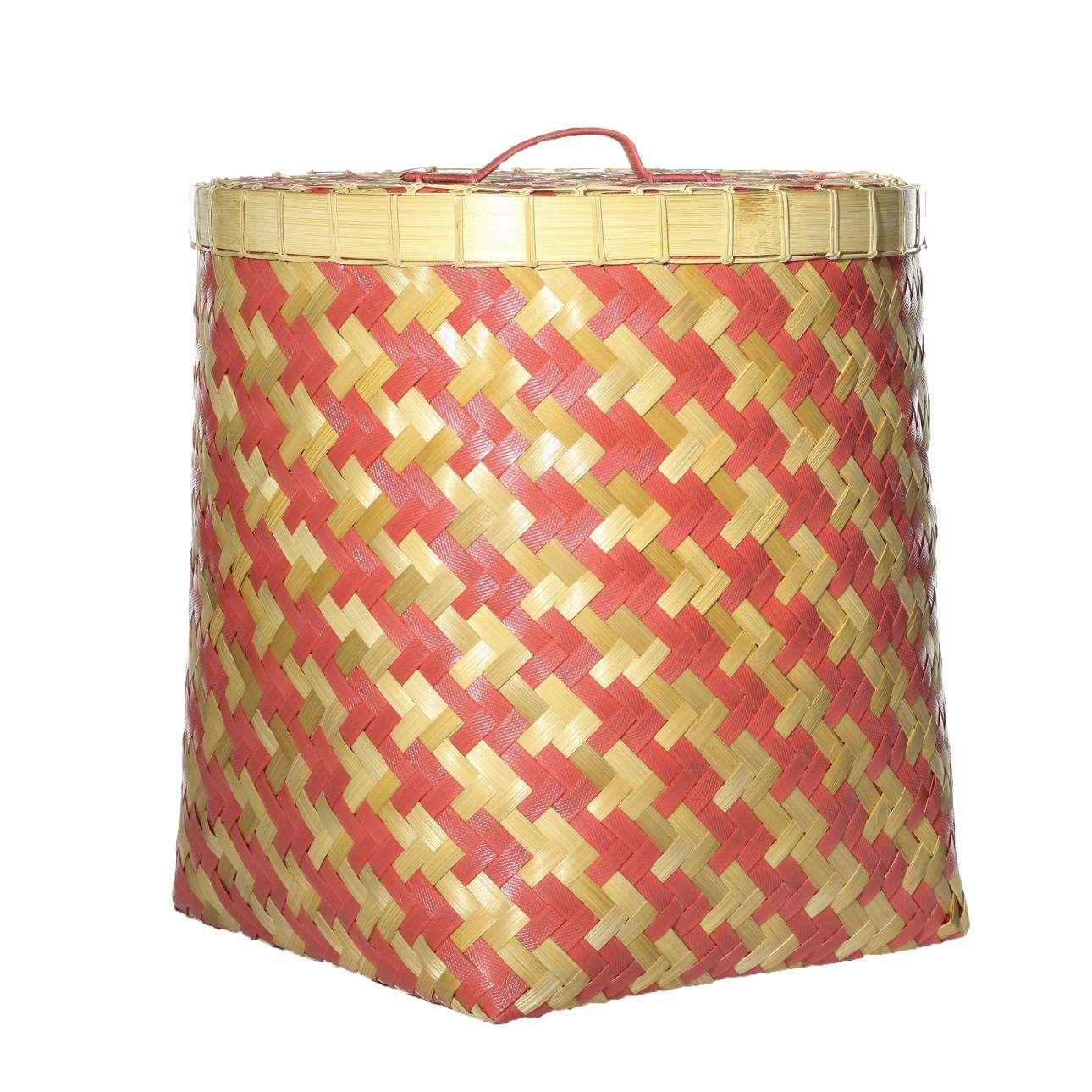 Kosz z pokrywą Stripes 45x47cm 45x45x47cm