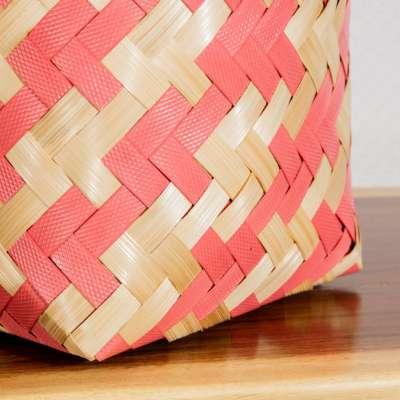 Kosz Stripes 33x24x19,5cm Kosze plecione do - 70% - Dekoria.pl