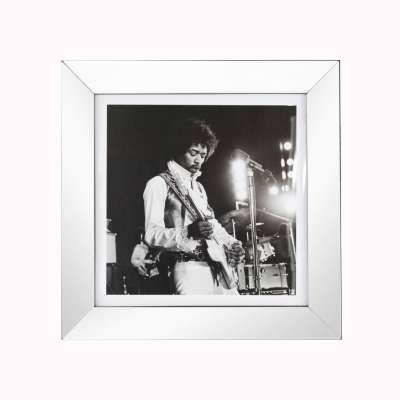 Affisch med ram Jimi Hendrix 51x51cm Affisch med ram - Dekoria.se