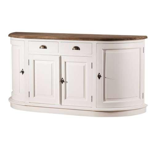 Komoda Brighton  4-dveřová + 2 zásuvky white&natural