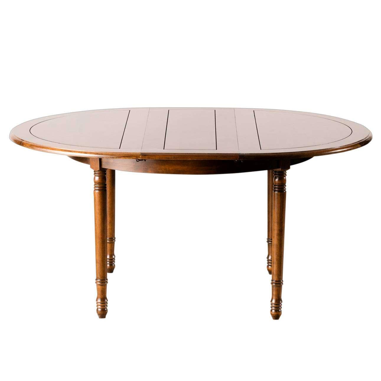 Stůl kulatý rozkládací 120x76cm/ 160x120x76cm