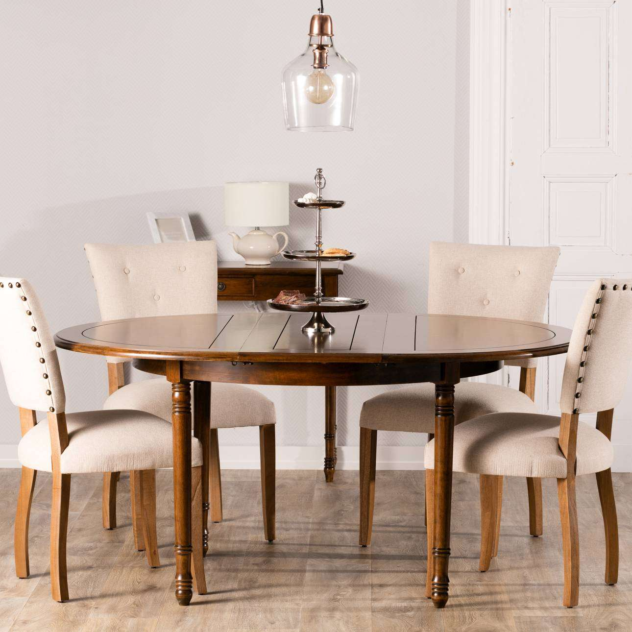tisch ausklappbar 120x76cm 160x120x76cm dekoria. Black Bedroom Furniture Sets. Home Design Ideas