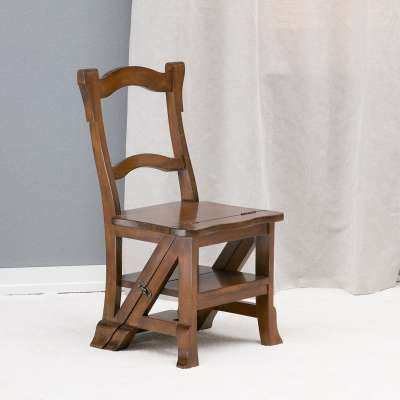 Stoel-ladder combi 44x48x85cm Koloniale meubels - Dekoria.nl