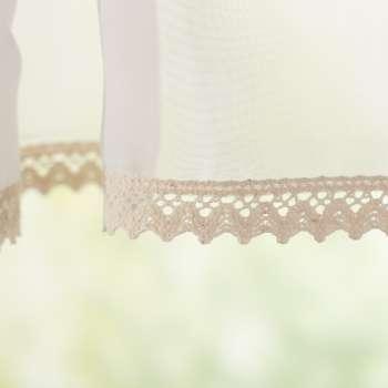 Lily let voile hvid i metermål 50cm fra kollektionen Voile, Stof: 900-01