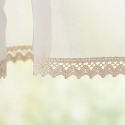 Lily white pelmet by the metre 900-01 ivory Collection Voile