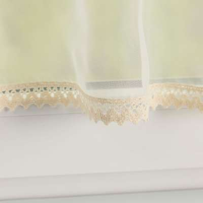 Lily white valance (lower pelmet) 900-01 ivory Collection Voile