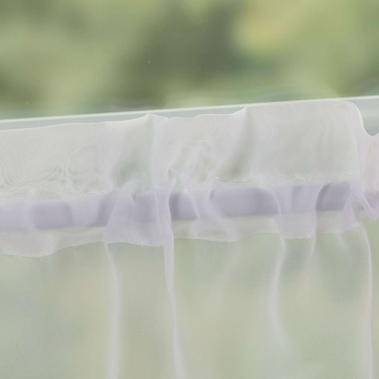 Lily kraftig voile hvid i metermål 40cm fra kollektionen Voile, Stof: 900-00
