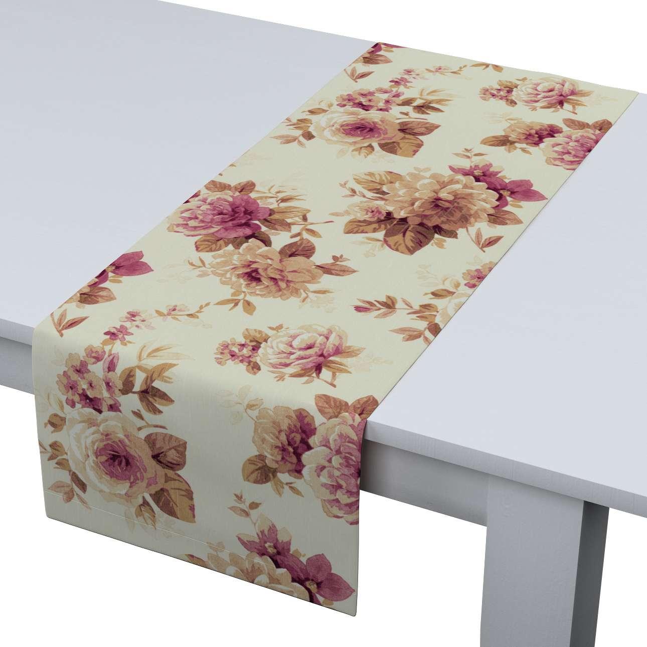 Rechteckiger Tischläufer 40 x 130 cm von der Kollektion Mirella, Stoff: 141-06