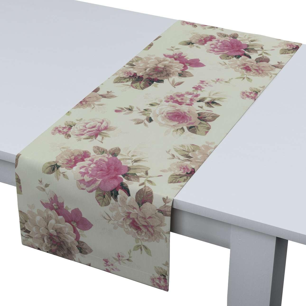 Rechteckiger Tischläufer 40 x 130 cm von der Kollektion Mirella, Stoff: 141-07