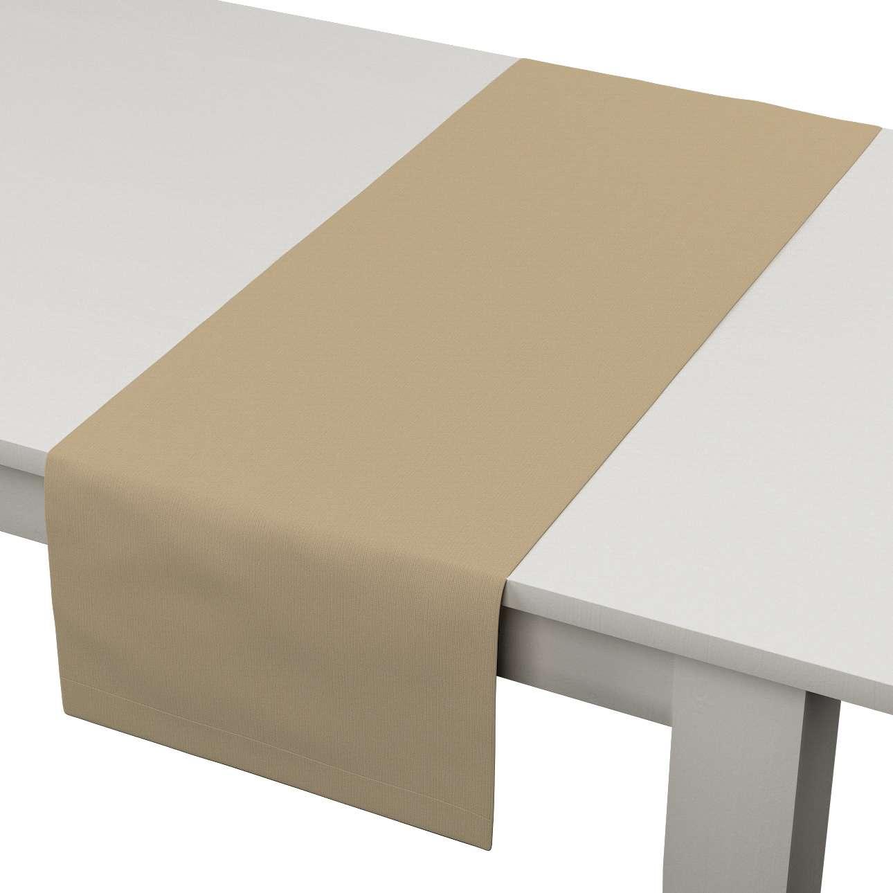 Rechteckiger Tischläufer 40 x 130 cm von der Kollektion Cotton Panama, Stoff: 702-01