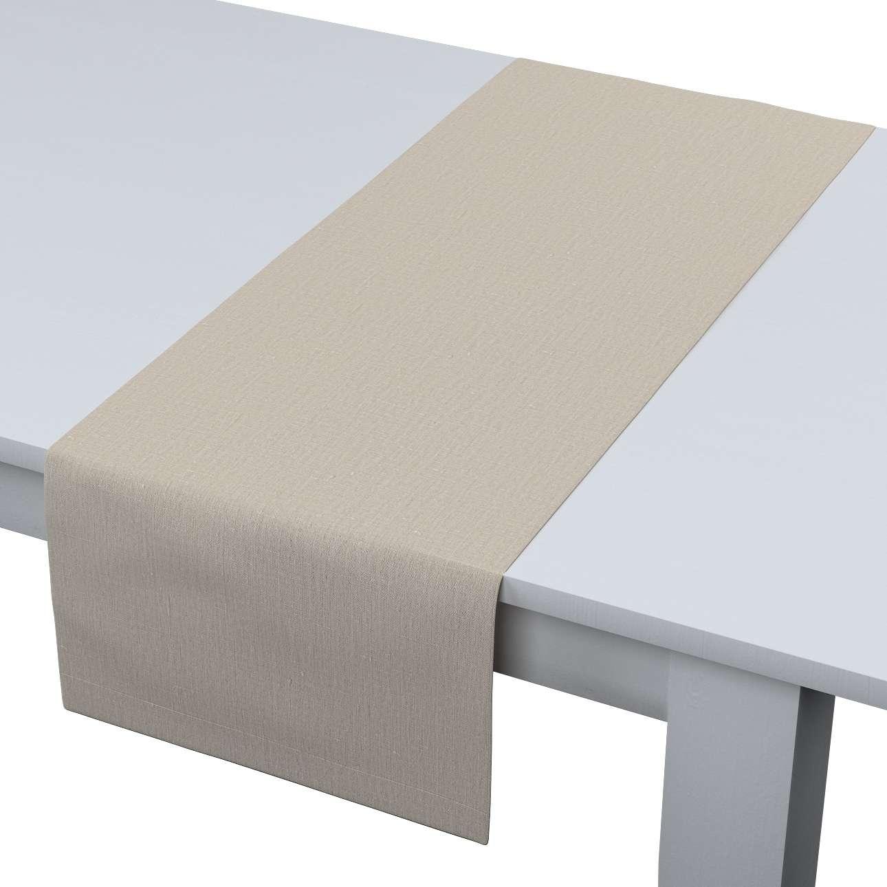 Rechteckiger Tischläufer 40 x 130 cm von der Kollektion Leinen, Stoff: 392-05
