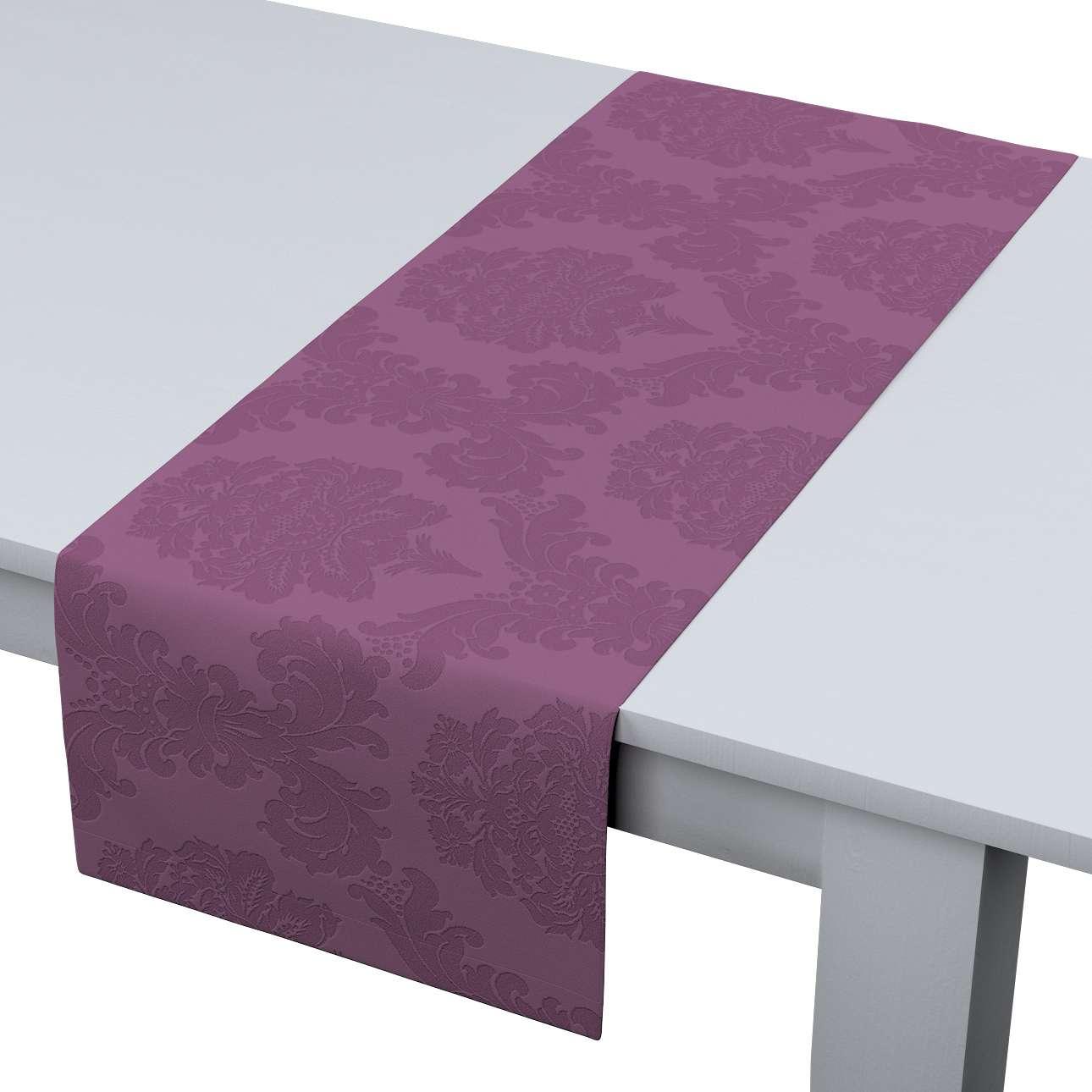 Rechteckiger Tischläufer 40 x 130 cm von der Kollektion Damasco, Stoff: 613-75