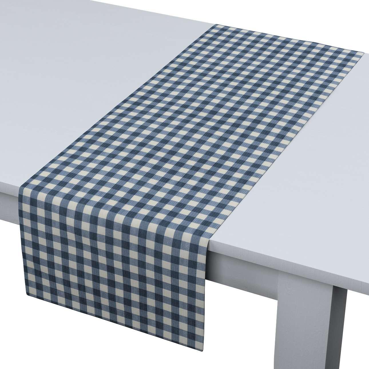 Rechteckiger Tischläufer 40 x 130 cm von der Kollektion Quadro, Stoff: 136-01