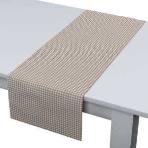 Rechteckiger Tischläufer 40 x 130 cm von der Kollektion Quadro, Stoff: 136-05