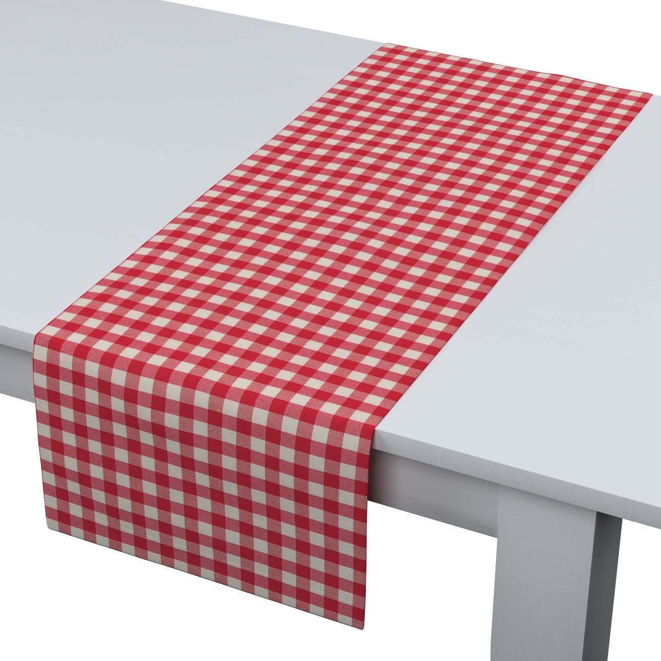 Rechteckiger Tischläufer 40 x 130 cm von der Kollektion Quadro, Stoff: 136-16