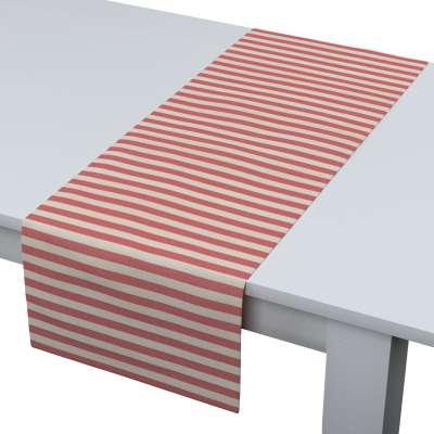 Štóla na stôl 136-17 červeno-biele prúžky Kolekcia Quadro