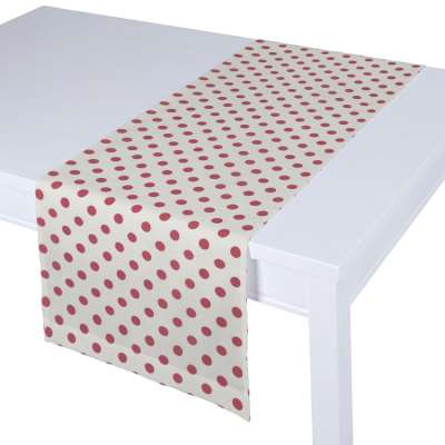Table runner 137-70 red spots on white background Collection Little World