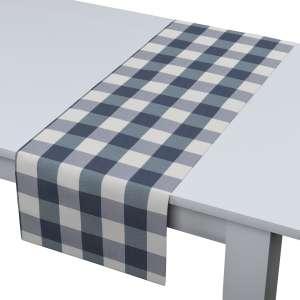 Rechteckiger Tischläufer 40 x 130 cm von der Kollektion Quadro, Stoff: 136-03