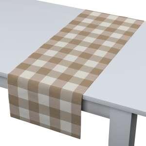 Rechteckiger Tischläufer 40 x 130 cm von der Kollektion Quadro, Stoff: 136-08