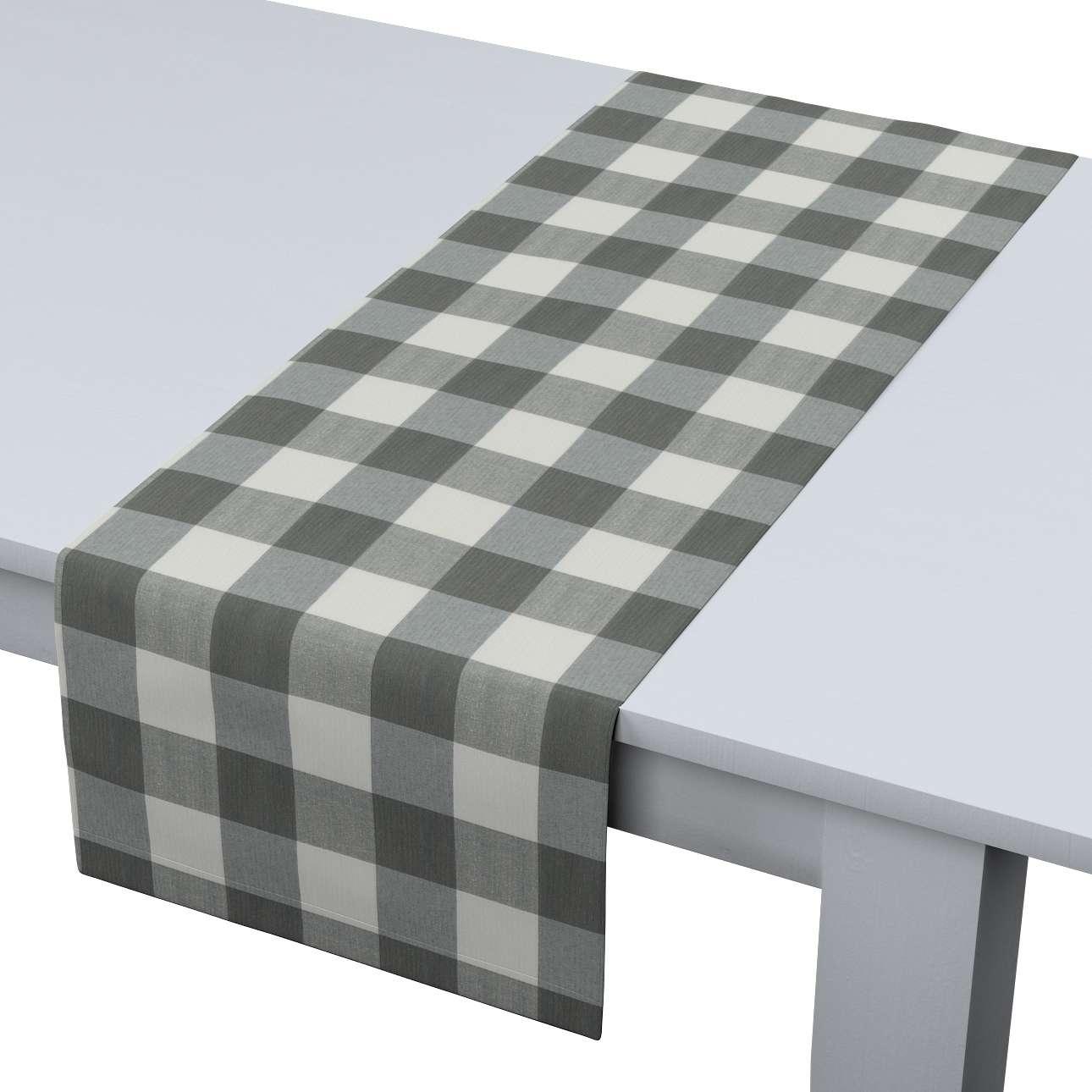 Rechteckiger Tischläufer 40 x 130 cm von der Kollektion Quadro, Stoff: 136-13