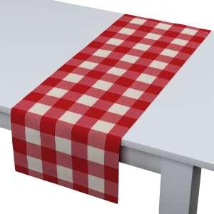 Rechteckiger Tischläufer 40 x 130 cm von der Kollektion Quadro, Stoff: 136-18