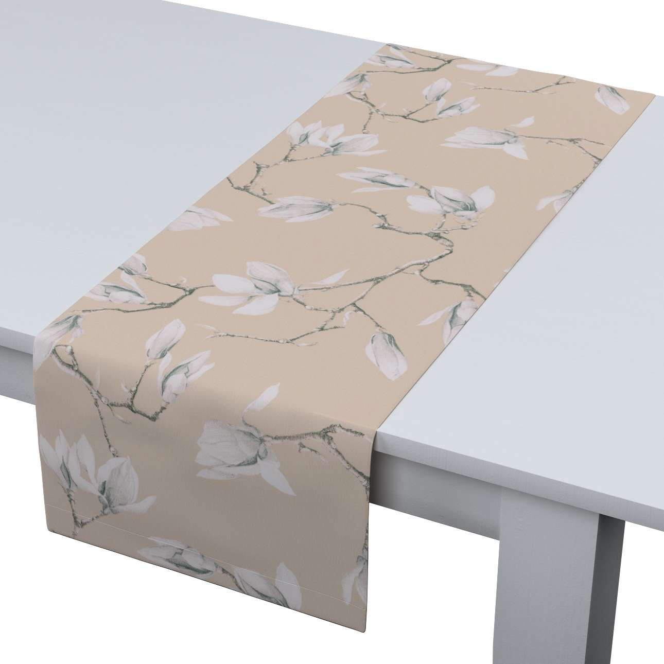 Table runner in collection Flowers, fabric: 311-12