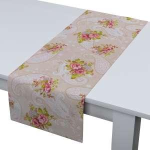 Rechteckiger Tischläufer 40 x 130 cm von der Kollektion Flowers, Stoff: 311-15